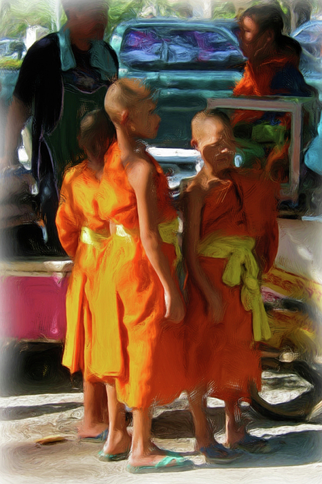 Little Novice Monks 1-cropped by Bates Clark