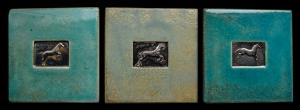 The Jump, ceramic art tiles celebrating the beauty of the Nobel Horse in motion on exhibit.